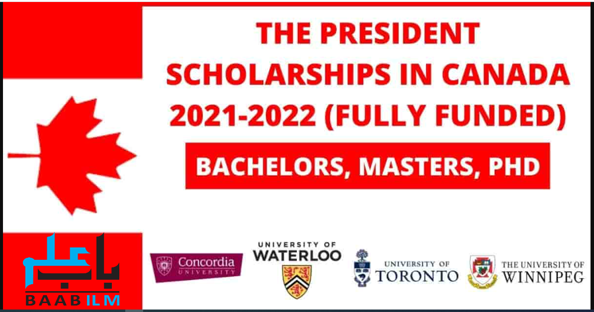 The President Scholarship in Canada 2021-2022