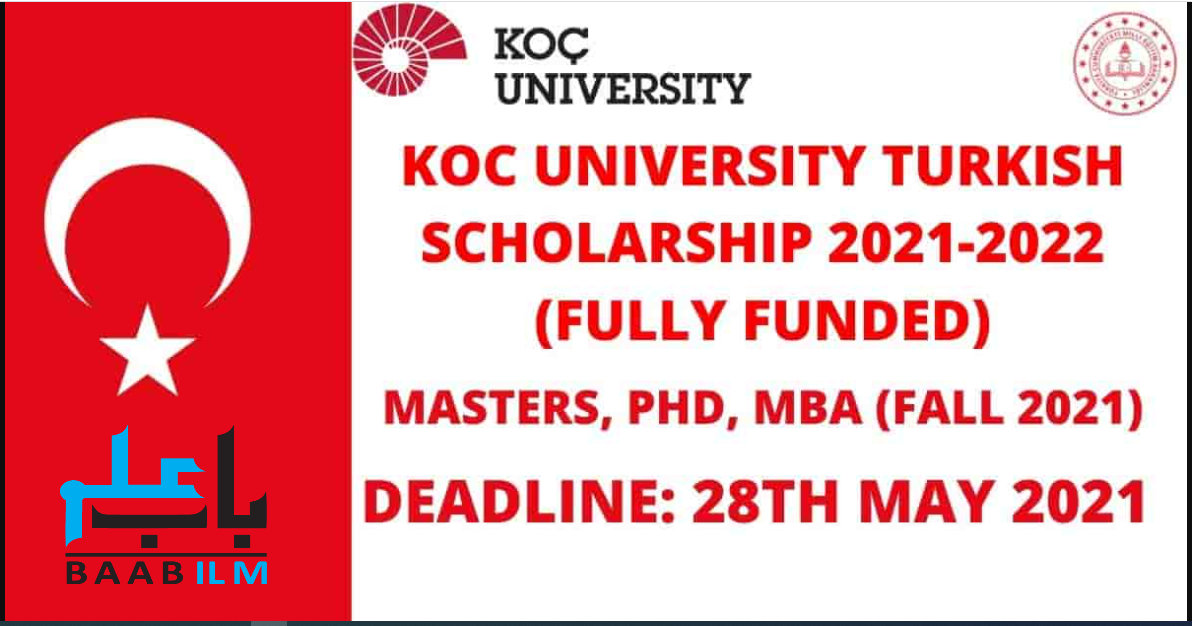 Koc University Scholarship Turkey 2021