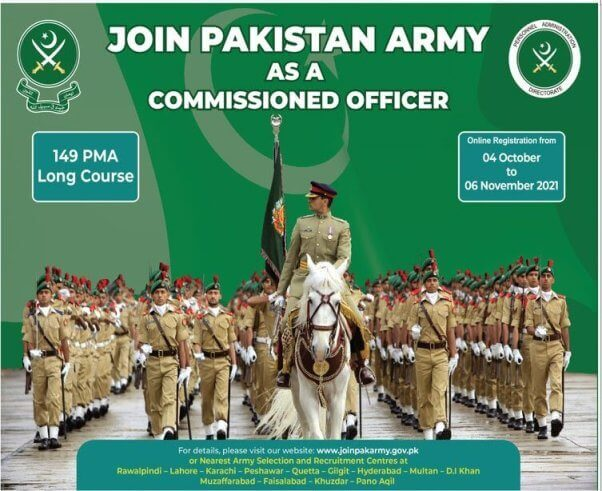 Join Pak Army as Commissioned Officer 149 PMA Long Course 2021